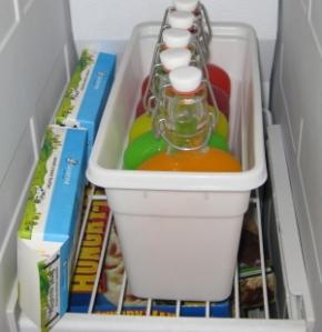 pui sticlelel la rece frigider congelator